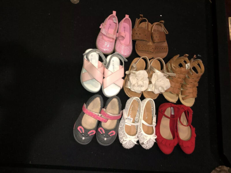 Lot Of (8) Girls Spring/summer Shoes  Size 6