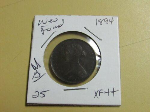 1894 New Foundland One Cent XF+++