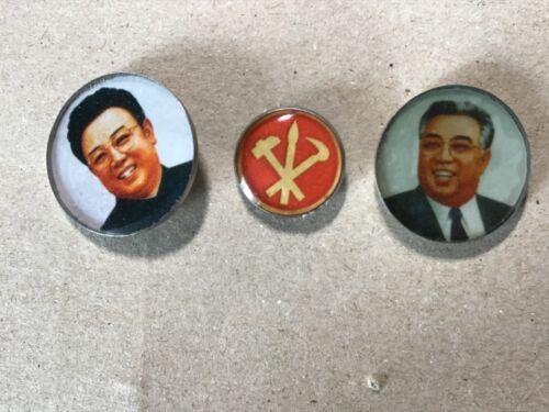 pins badges of Leaders (Kim Il Sung &Kim Jong Il)