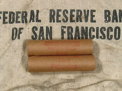 (ONE) FRB SF Salt Lake Branch Indian Head Penny Roll 50 Cents - 1859 1909 (1)