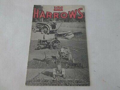 1940 Minneapolis-moline Harrows Sales Brochure