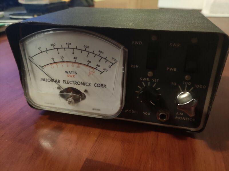 Palomar Electronics Model 500 Watt SWR Meter CB AM Monitor Vintage HAM Radio