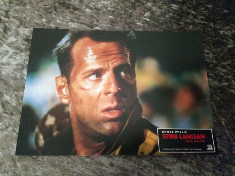 Die Hard lobby cards/stills - Bruce Willis, Bonnie Bedelia