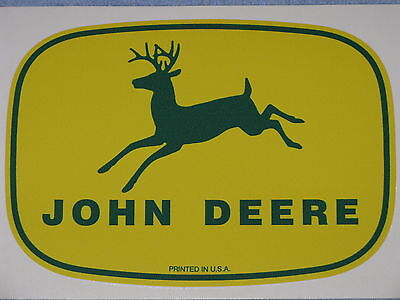 John Deere 7.75 1950s Printed In Usa Logo Decal Sticker Farm Tractor Gator