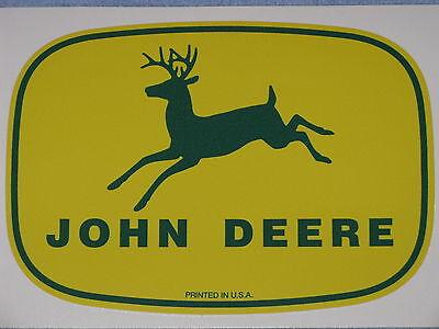 John Deere Logo 5.75 1950s Printed In Usa Decal Sticker Farm Tractor Gator