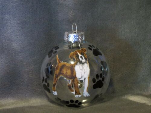 HAND MADE BOXER GLASS CHRISTMAS ORNAMENT / BALLBOXER