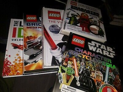 LEGO Star Wars, Ninjago Character Encyclopedias Brickmaster Ideas Lot 5 books