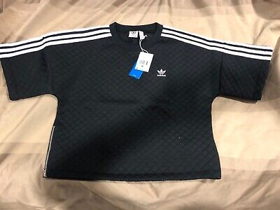 Adidas Originals Diamond Quilted T Shirt Medium Black pant firebird track -