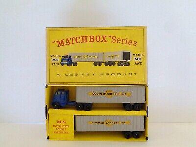 Lesney Matchbox MAJOR PACK M-9 'COOPER-JARRETT DOUBLE FREIGHTER'-moko-see photos