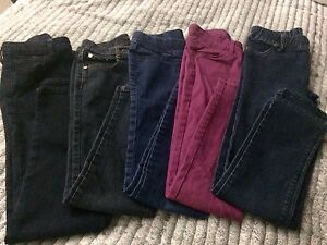 5 pairs gently used jeans and jeggings