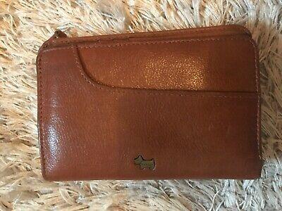 RADLEY Light Tan Brown Genuine Leather Zip Around Purse Wallet