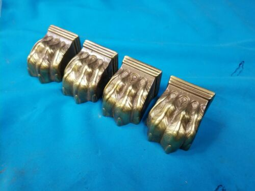 Set of 4 Vintage Brass Claw Feet