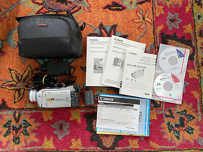 Canon Optura 10 Mini DV Camcorder w/Case, Manuals, Charger, Batteries, Etc.