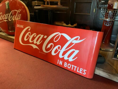 "67""  COKE Coca-Cola Porcelain 1950"