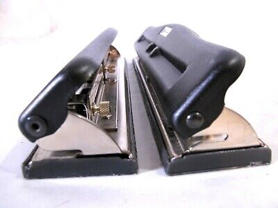 Acco 3 Hole Paper Punch Heavy Duty Desktop Model 23 Made In The Usa Lot Of 2