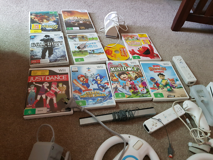 Wii in great condition with games and remotes