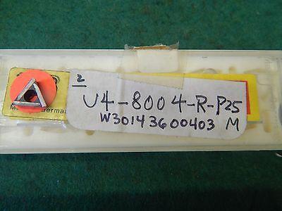 2 Komet W30 14360.0403 U4 8004 R P25m Carbide Inserts