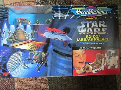 STAR WARS MICRO MACHINES R2D2/JABBAS PALACE TRANSFORMING PLAYSET