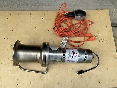 Ab Chance 1000lb Capstan Hoist C308-1170 W Foot Pedal Good Condition