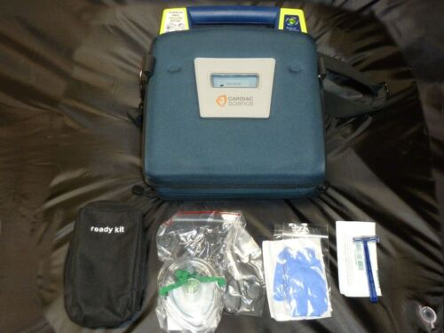 Cardiac Science Powerheart G3 AED defibrillator W/ Pads Battery Case Infant