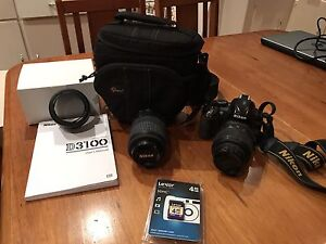 Nikon D3100 with two lenses Trevallyn West Tamar Preview