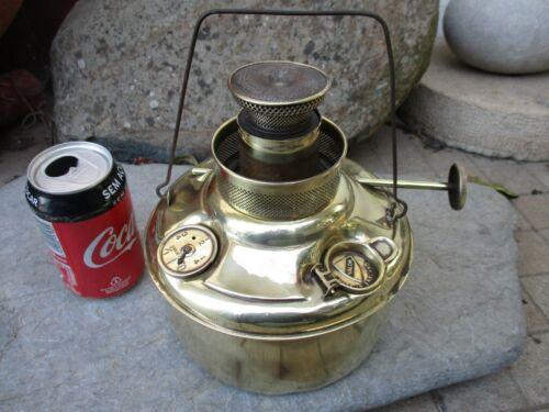 Vintage in Brass Large Oil Kerosene Valor England Lamp Birmingham & London Ltd.