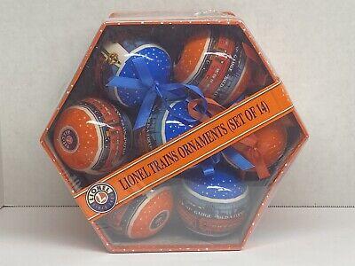 LIONEL TRAIN~Collectors Set~14 Ornaments~ RAILROAD~Christmas balls~Gift Set~new