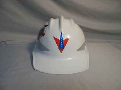 Vtg E.d. Bullard Hard Boiled Egg Hard Hat Fluor Daniel White Plastic