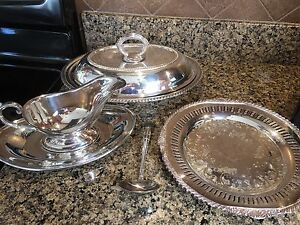 Beautiful Silver serving ware made by WM Rogers