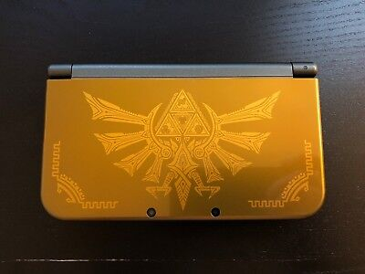 Nintendo New 3Ds Xl Hyrule Gold Edition Handheld System  Us Ver   Used