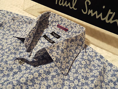 "PAUL SMITH Mens Shirt 🌍 Size 15.5"" (CHEST 42"")🌎RRP £95+📮 FLORAL LIBERTY STYLE"