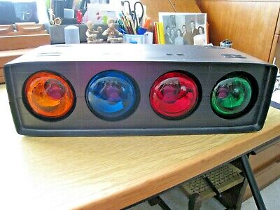 VINTAGE 'REALISTIC' DISCO FLASHING LIGHTS, 4 COLOURS IN CABINET