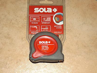 Sola Bandmaß Popular 3 m Rollbandmaß (Maßband Sola)