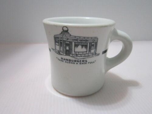 Krystal Hamburger Coffee Cup Mug Restaurant Ware Shenango China  Vintage