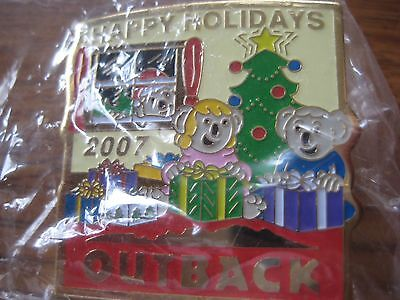 Outback Steakhouse Restaurant Happy New Year 2007 Pin Pinback NIP