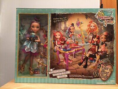 Ever After High Maddie Hatter (MATTEL EVER AFTER HIGH HAT-TASTIC TEA PARTY MADELINE HATTER DOLL AND SET)