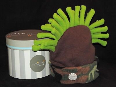 Toddler 12-24 Months MOHAWK HAT CAP MImi Couture Neon Green BROWN Camouflage