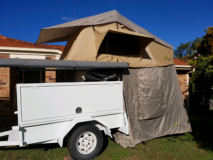 Tjm Yulara Roof Top Tent With Annex & roof top tent in Queensland | Camping u0026 Hiking | Gumtree Australia ...