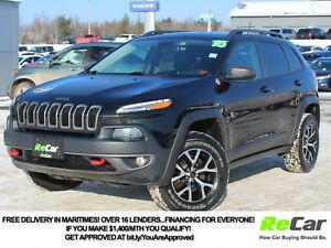 2015 Jeep Cherokee Trailhawk HEATED LEATHER | NAV | SUNROOF