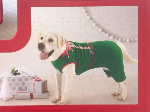 """Dog Christmas Pajamas """"ELF"""" Green & Red Pet XL Wondershop at Target"""