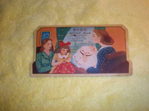 Vintage PIGO Made in Japan Needle Book Nickel plated rust proof fine quality!!!