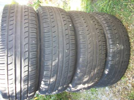 Wheels tyres with hub caps Edgeworth Lake Macquarie Area Preview