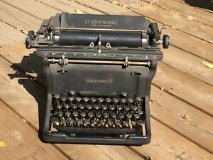 Antique Underwood typewriter.