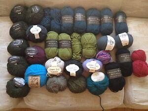 SOLD PPU...Huge Yarn lot 32 balls 100% pure wool