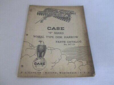 Case S Series Wheel Type Disk Harrow Parts Catalog B712