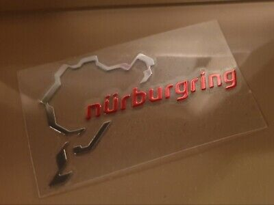 Nürburgring Alulunium Aufkleber Für Alle Autos BMW Mercedes Audi Golf Honda Sea