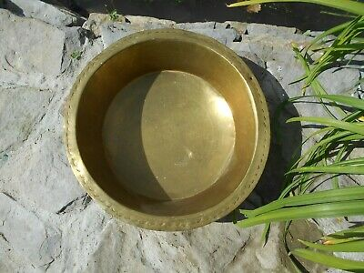 Vintage French antique? brass jam pan/ planter/ jardiniere/ decorative bowl/sink