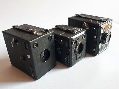 3 Stück alte BOX Kameras AGFA, Zeiss Ikon
