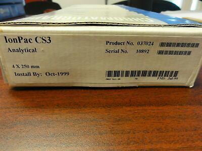 Dionex Ionpac Cs3 Analytical 4 X 250 Mm Column - Pn 037024 1999 New