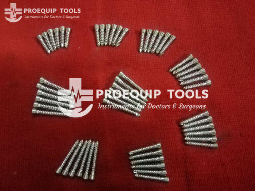 Locking Screws Ø2.7mm Self Tapping Set of 78 Pieces Orthopedic Instruments